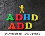 add  attention deficit... | Shutterstock . vector #647019559