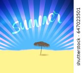 summer retro poster with... | Shutterstock .eps vector #647023501