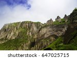 beautiful mountain landscape ... | Shutterstock . vector #647025715