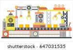 industrial abstract machine... | Shutterstock .eps vector #647031535