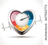 hypertension concept   healthy... | Shutterstock .eps vector #647032771