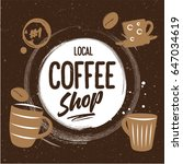 the logo of the coffee shop... | Shutterstock .eps vector #647034619