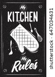 chalk cooking poster. kitchen... | Shutterstock .eps vector #647034631