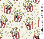 cute kids pattern for girls and ...   Shutterstock .eps vector #647035495