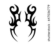 tattoo tribal vector designs. | Shutterstock .eps vector #647036779