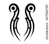 tribal tattoo art designs.... | Shutterstock .eps vector #647036785