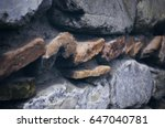 ancient brick and stone masonry ... | Shutterstock . vector #647040781