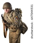 American infantry officer of the Second World War.
