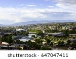 panoramic view of tbilisi  the... | Shutterstock . vector #647047411