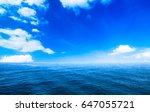 sea ocean and blue sky... | Shutterstock . vector #647055721