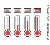 vector of goal thermometers at... | Shutterstock .eps vector #647059471