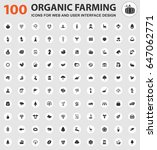 organic farming icons for web...   Shutterstock .eps vector #647062771