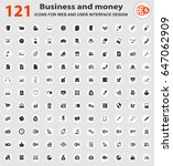 business web icons for user... | Shutterstock .eps vector #647062909