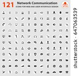 communication web icons for... | Shutterstock .eps vector #647063539