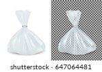 transparent blue plastic bag.... | Shutterstock .eps vector #647064481