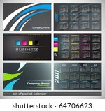vector abstract pocket calendar ... | Shutterstock .eps vector #64706623