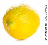 whole lemon yellow and green...   Shutterstock . vector #647069431