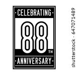 88 years anniversary design... | Shutterstock .eps vector #647071489