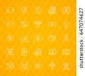 bitcoin line icons. vector...   Shutterstock .eps vector #647074627