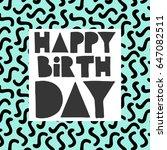 Happy Birthday Card   Hand...