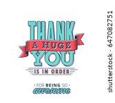 lovely thank you card design... | Shutterstock .eps vector #647082751