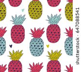 vector seamless pattern with... | Shutterstock .eps vector #647088541