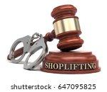 shoplifting text on sound block ...   Shutterstock . vector #647095825