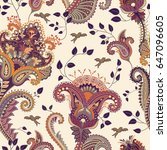 ethnic seamless pattern. indian ... | Shutterstock . vector #647096605