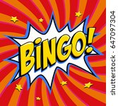 bingo lottery poster. lottery... | Shutterstock .eps vector #647097304