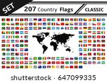set 207 country flags and world ... | Shutterstock .eps vector #647099335