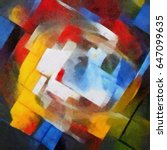 Abstract Geometric Painting In...