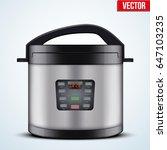 original electric pressure... | Shutterstock .eps vector #647103235