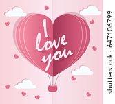 love invitation card. balloon... | Shutterstock .eps vector #647106799