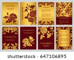vector templates for a4 with... | Shutterstock .eps vector #647106895