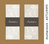 beautiful wedding invitations... | Shutterstock .eps vector #647119495