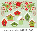 Vector Christmas Birdhouses...