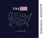 outline map of united states of ... | Shutterstock .eps vector #647123779