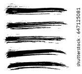 ink vector brush strokes set.... | Shutterstock .eps vector #647125081