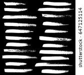 ink vector brush strokes set.... | Shutterstock .eps vector #647125114
