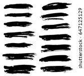 ink vector brush strokes set.... | Shutterstock .eps vector #647125129