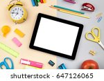 school and office supplies on... | Shutterstock . vector #647126065