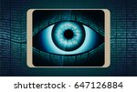 the all seeing eye of big... | Shutterstock .eps vector #647126884