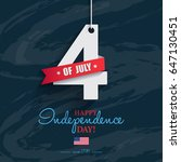 happy 4th of july  ... | Shutterstock .eps vector #647130451