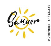 hand drawn sun vector... | Shutterstock .eps vector #647131669
