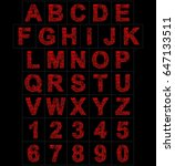 letters and numbers red... | Shutterstock . vector #647133511