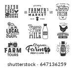 farmer s market  organic food ... | Shutterstock . vector #647136259