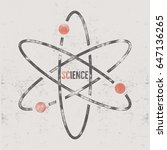 vintage science poster and... | Shutterstock . vector #647136265
