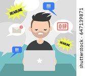 working process conceptual... | Shutterstock .eps vector #647139871