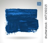 blue brush stroke and texture.... | Shutterstock .eps vector #647150215