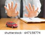 bank does not approve car loan | Shutterstock . vector #647158774